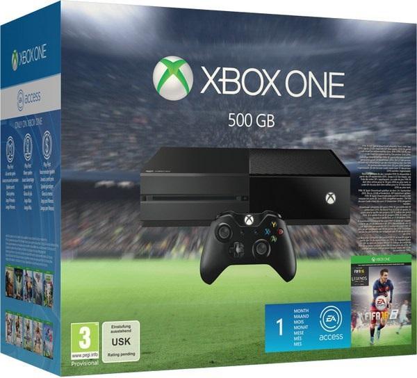 Console Microsoft Xbox One 500Go + Fifa 16 + 1 Mois EA Access