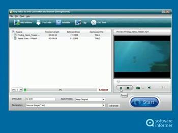 Logiciel Any Video to DVD Converter and Burner gratuit (au lieu de 29.95$)
