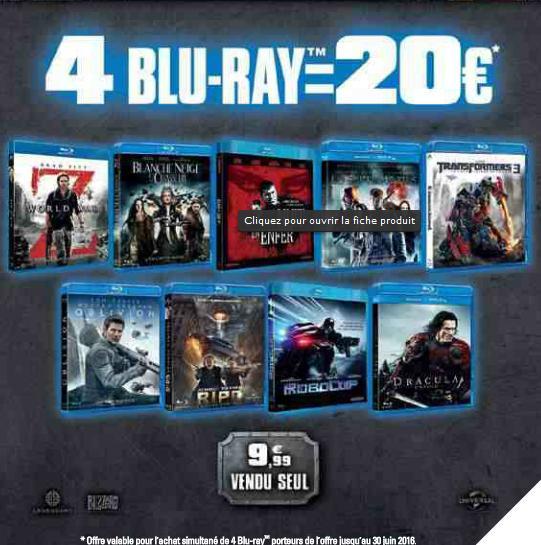 4 Blu-ray Warner au choix parmi une sélection