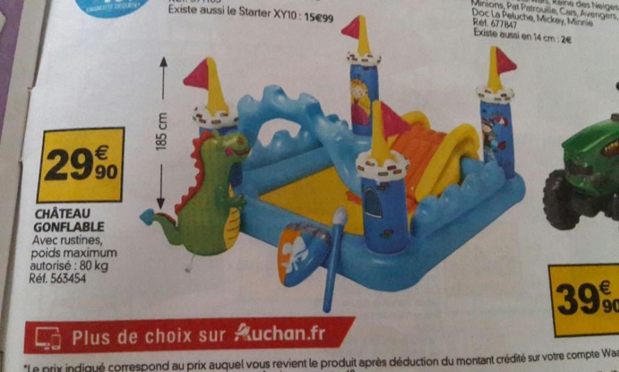 Chateau gonflabe enfant Intex (hauteur 107 cm)