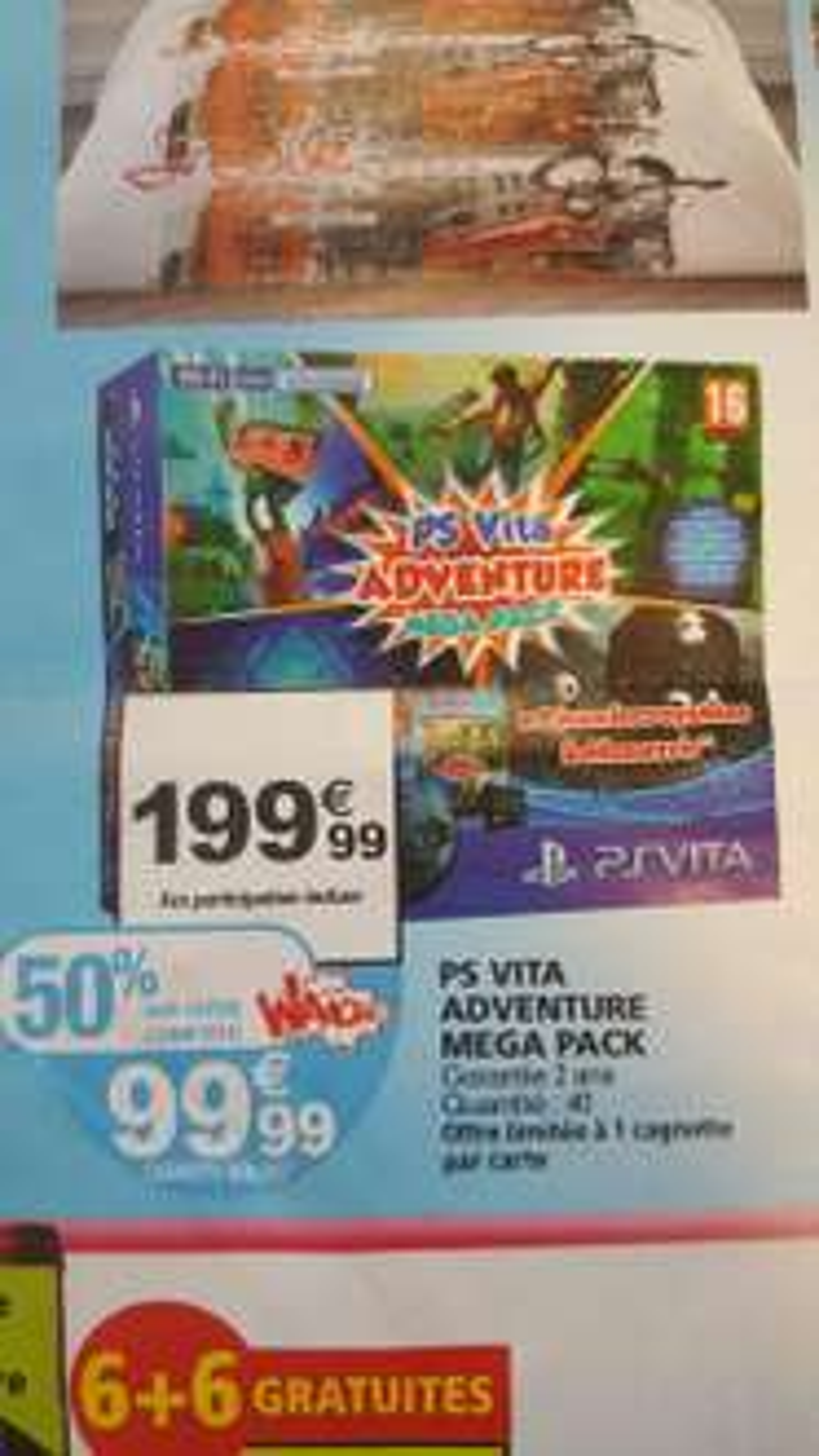 Console portable Sony PS Vita Adventure Mega Pack (avec 99,99€ sur la carte fidélité)