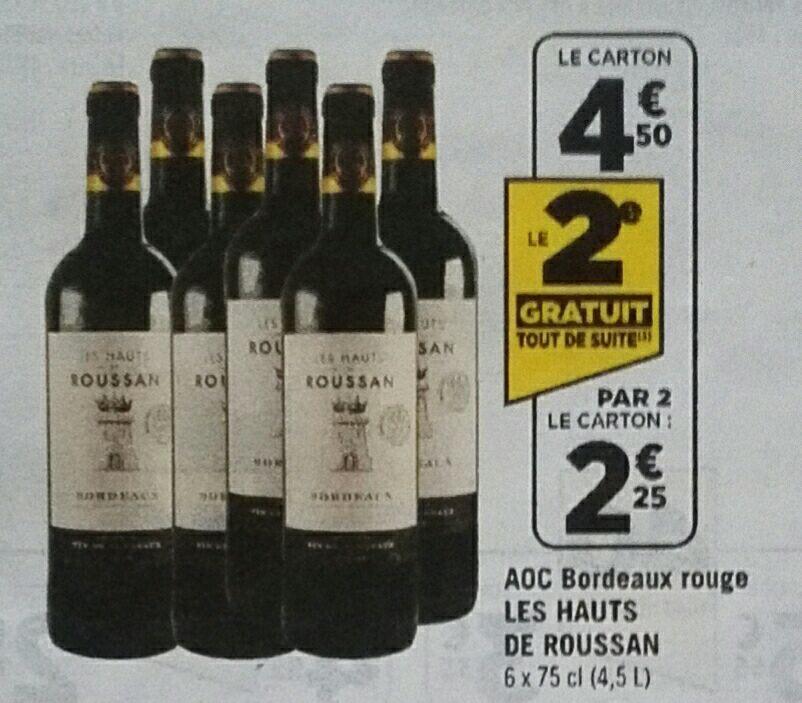 Lot de 12 Bouteilles de Vin de Bordeaux AOC 2014