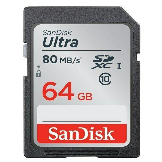 Carte SDXC SanDisk Ultra Classe 10 (jusqu'à 80 Mo/s) - 64 Go