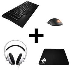 Pack gaming Steelseries : Casque Siberia V2 + Clavier Apex Raw + Souris Rival Noire + Tapis de souris + Far Cry Primal