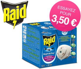 Diffuseur Raid Night & Day (via Shopmium et Coupon Network)