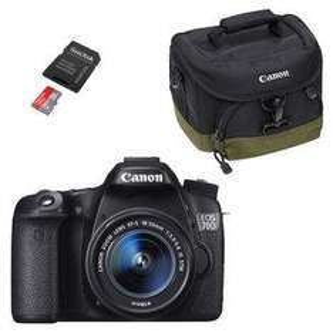Appareil photo Réflex Canon EOS 70D + Objectif 18-55mm + SanDisk Ultra microSDHC 32 Go