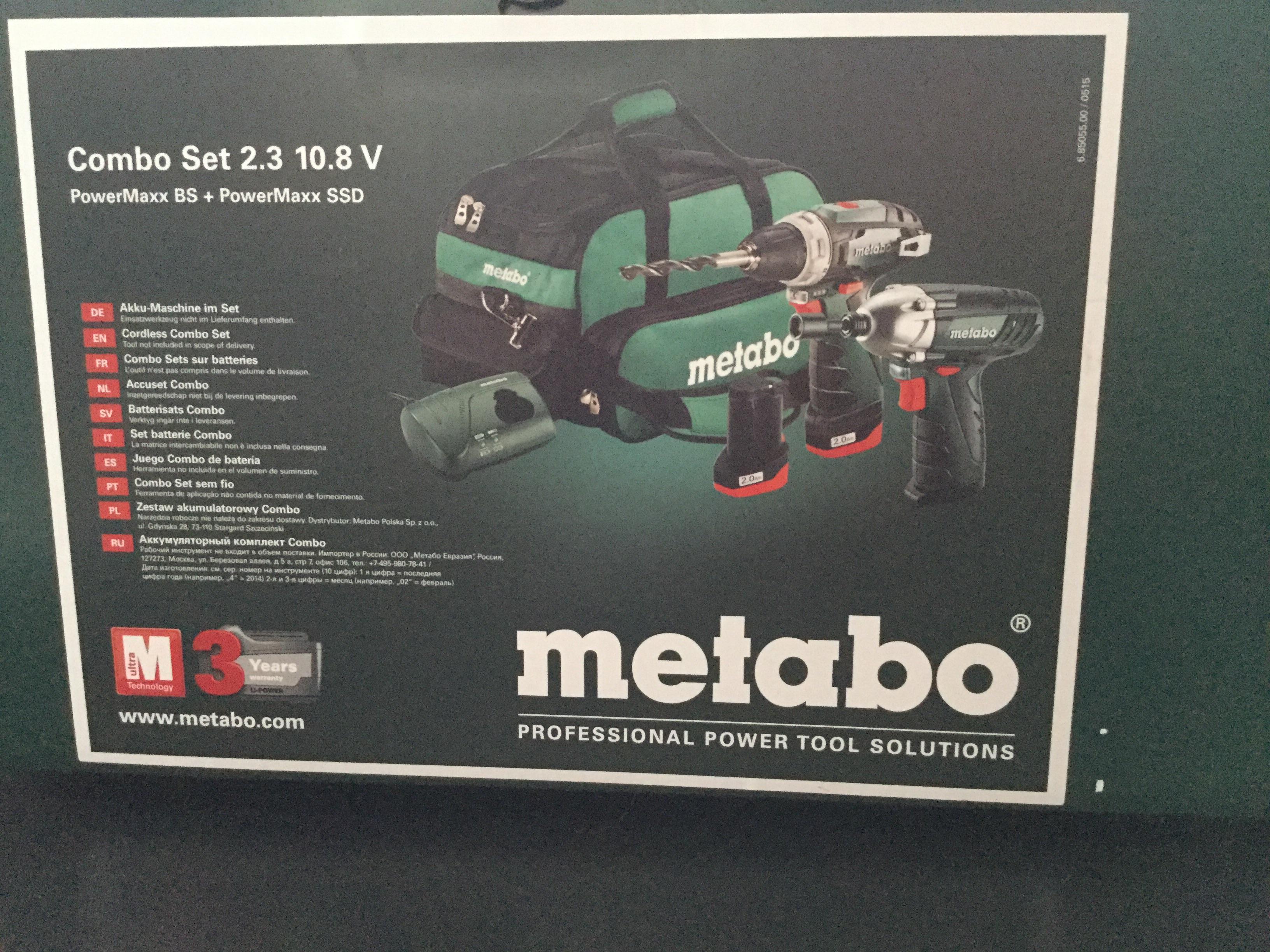 Set perceuse-visseuse + visseuse à percussion Metabo Combo 2.3 (10.8 V)