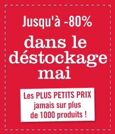 Jusqu'à -80% sur de nombreux articles à partir de 0.37€ (+ produits de marques)