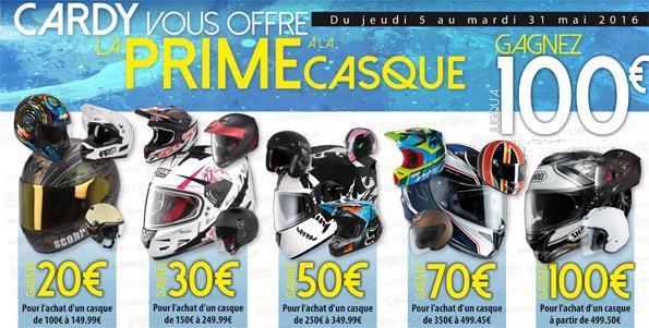 Jusqu'à 100€ de réduction sur une sélection de casques en rapportant votre vieux casque - Ex : Shoei NXR