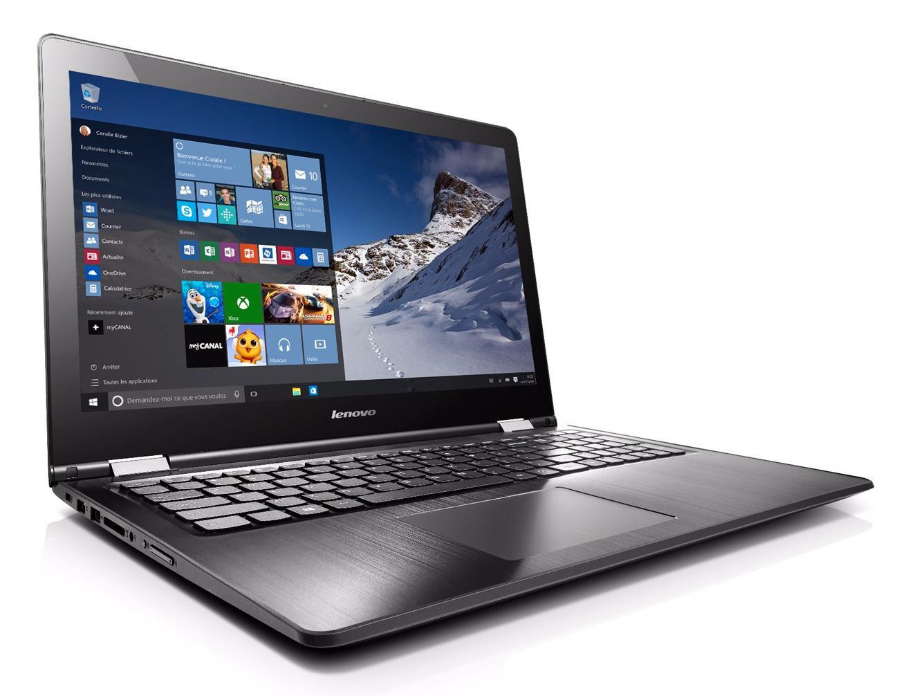 """PC portable hybride 15.6"""" Lenovo Yoga 500-15 (i5-6200U 2.3Ghz, 4 Go RAM, 1 To)"""