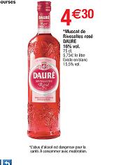 2 Bouteilles de Muscat Dauré Riveslates Rosé 75 cl