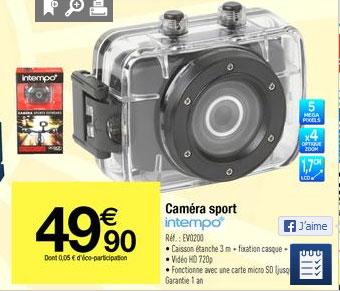 Caméra sport Intempo Ocean 720p
