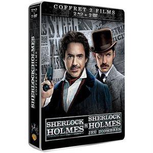 Coffret Steelbook Sherlock Holmes 1 + 2 Blu-Ray et DVD