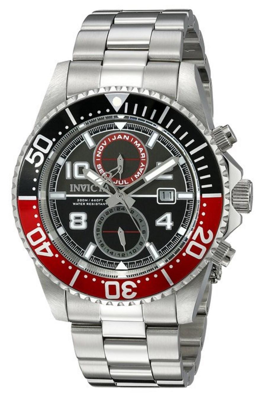 Montre Homme Invicta 18516 - Quartz, chronographe, bracelet Acier inoxydable argent