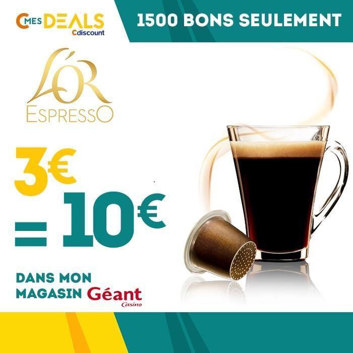 Bon d'achat de 10€ sur les capsules de café L'Or Espresso