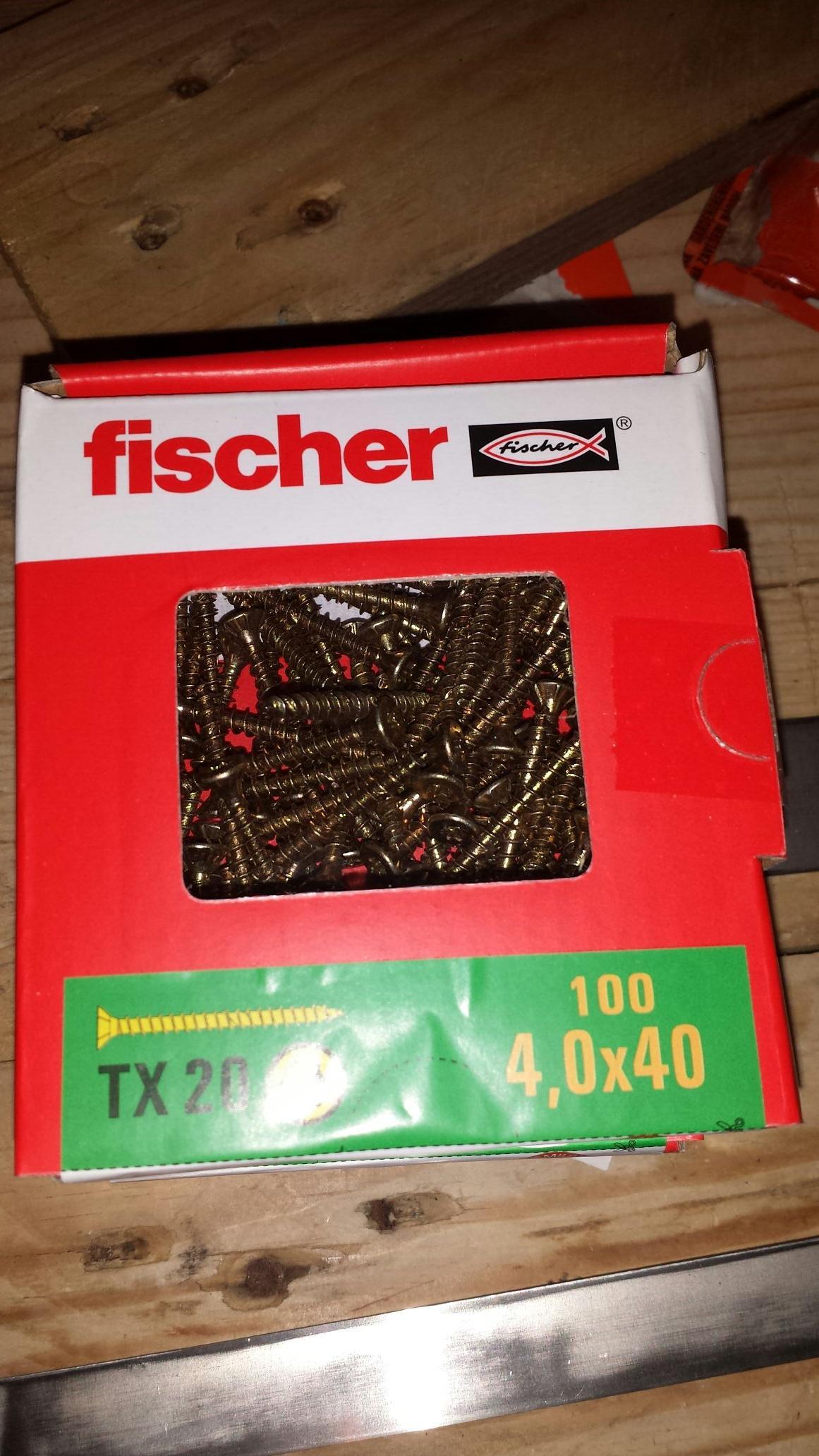 boîte de 100 Vis fischer TX20 4,0 x 40