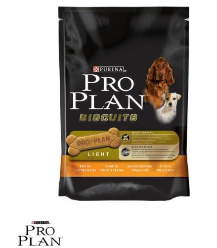 4 sachets de biscuits pour chien allégés Purina Pro Plan 400gr (via Shopmium)