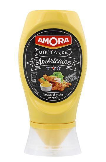 Flacon de Moutarde à l'américaine Amora - 265g (Via carte de fidélité + BDR)