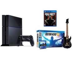 Pack Console PS4 500Go (Coloris au choix) + COD Black Ops 3 + Guitar Hero Live