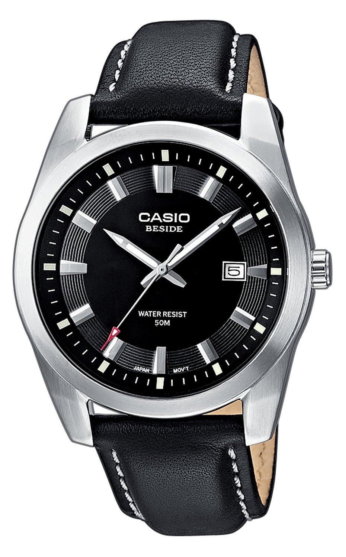 Montre pour homme Casio BEM-116L-1AVEF - Quartz, bracelet en cuir