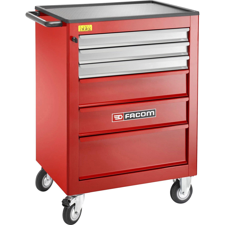 Servante d'atelier bimatière Facom 6 tiroirs, (+60€ de carte cadeau)