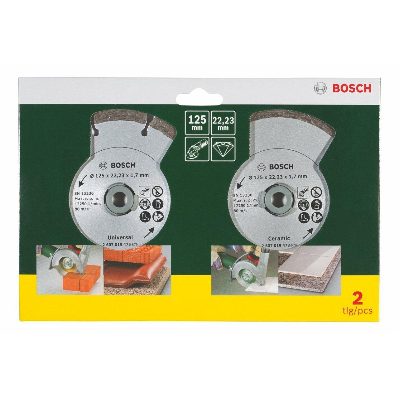 Jeu de disques diamant Bosch pour meuleuse (125 mm)