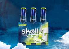 2 Packs de bières Skoll ou Skoll Ice Apple - 3 x 33 cl (via BDR)