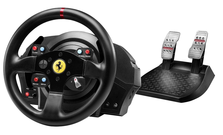 Volant + Pédalier Thrustmaster T300 Ferrari GTE (PC, PS3, PS4)