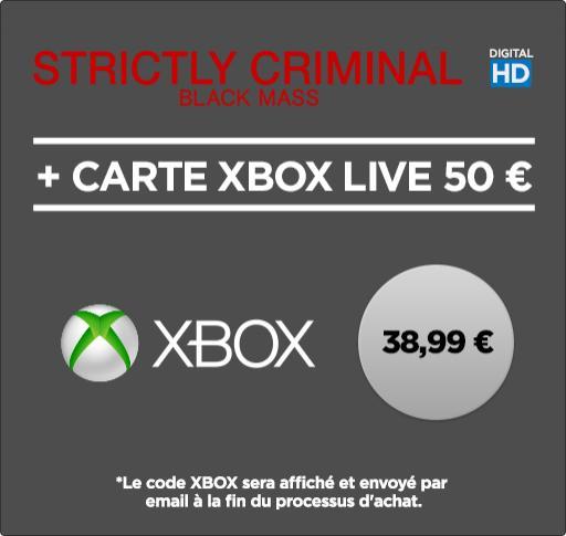 Carte Xbox Live de 50 € + Strictly Criminal en HD