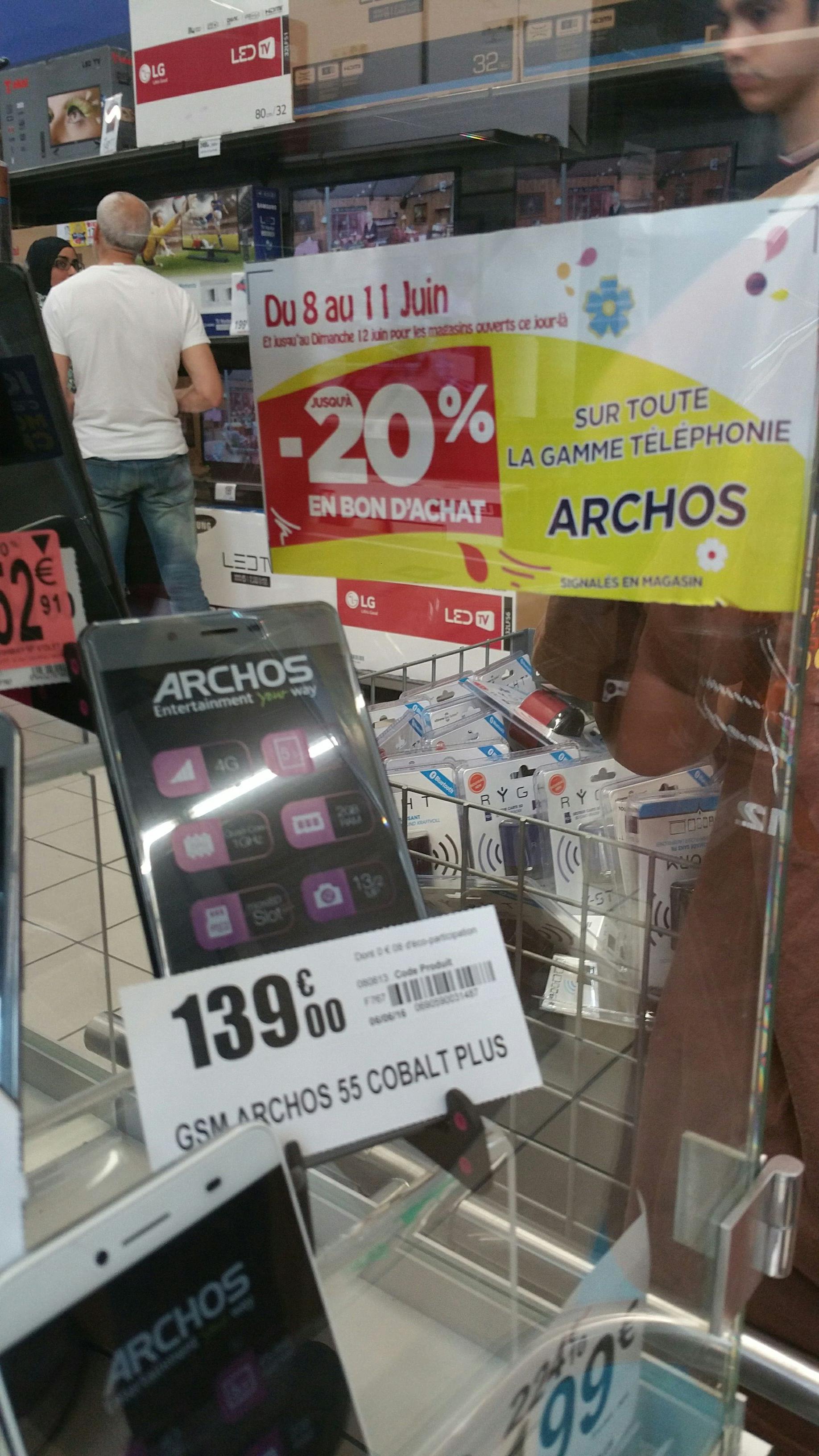 """Smartphone 5.5"""" Archos 55 Cobalt Plus (avec 20% en bon d'achat)"""