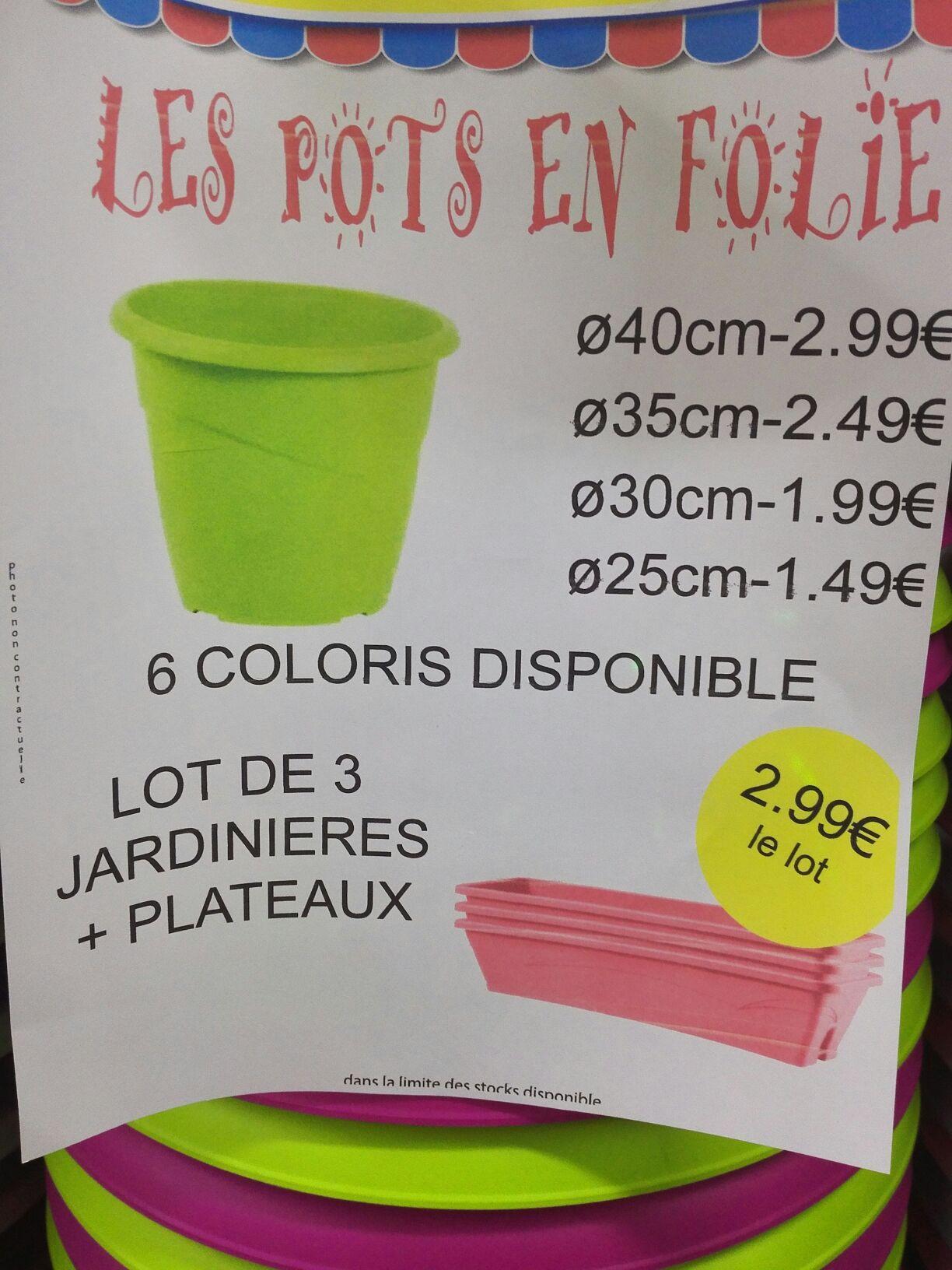 Lot de 3 Jardinières + Plateau