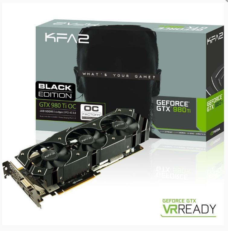 Carte graphique KFA2 GeForce GTX 980 Ti OC Black Edition - 6 Go