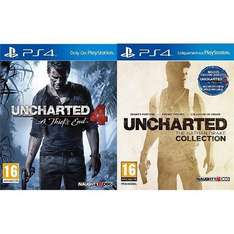 Consoles et Jeux PlayStation en promotion - Ex : Pack Uncharted 4 : A Thief's End + Uncharted : The Nathan Drake Collection