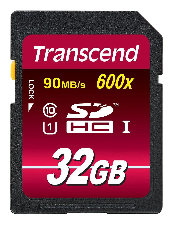 Carte mémoire SDHC Transcend Classe 10 UHS-I 600x - 32 Go