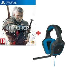Micro-Casque Logitech  Gaming G430 + The Witcher 3 : Wild Hunt sur PS4