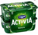 Pack de 12 yaourts Danone Activia Nature (avec 1.38€ sur la carte + BDR)