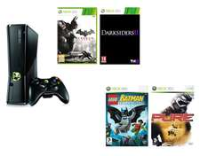 Console XBOX 360 250 Go + 4 jeux (Batman Arkham City, Darksiders 2...) / via Buyster