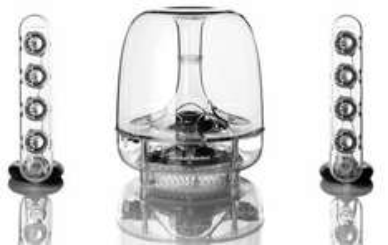 Kit d'enceintes Harman Kardon SoundSticks III - Transparent (version filaire)