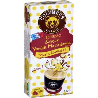 Lot de 2 Paquets de Capsules Columbus Café & Co compatibles Nespresso - 2x10 (Via réduction immédiate)