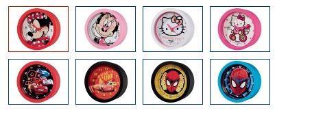 Réveil enfant Disney : Minnie, Hello Kitty, Cars, Spiderman