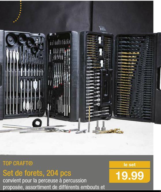 Set de forets Top Craft - 204 pièces