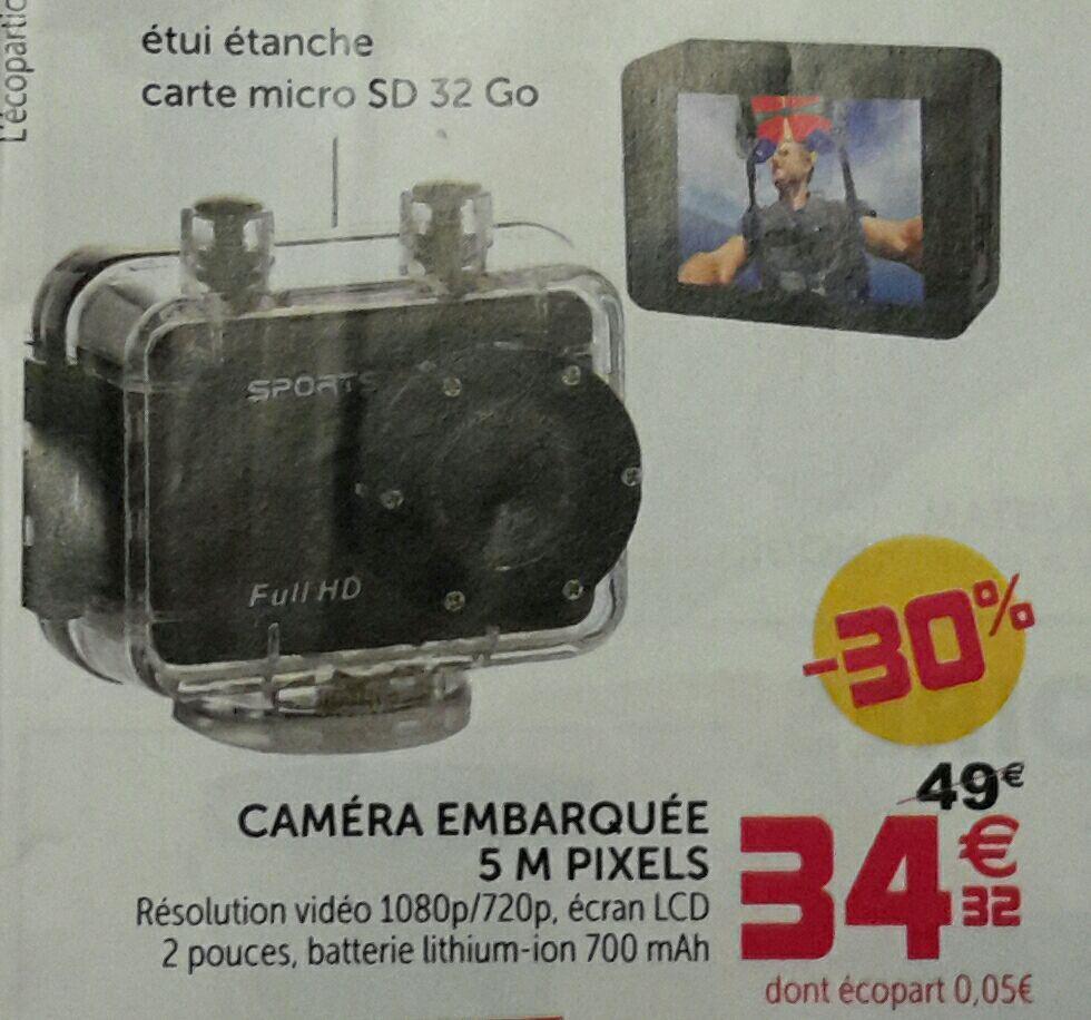 Caméra d'action Homday ExtremMoov Full HD 700mAh + Carte microSD 32 Go