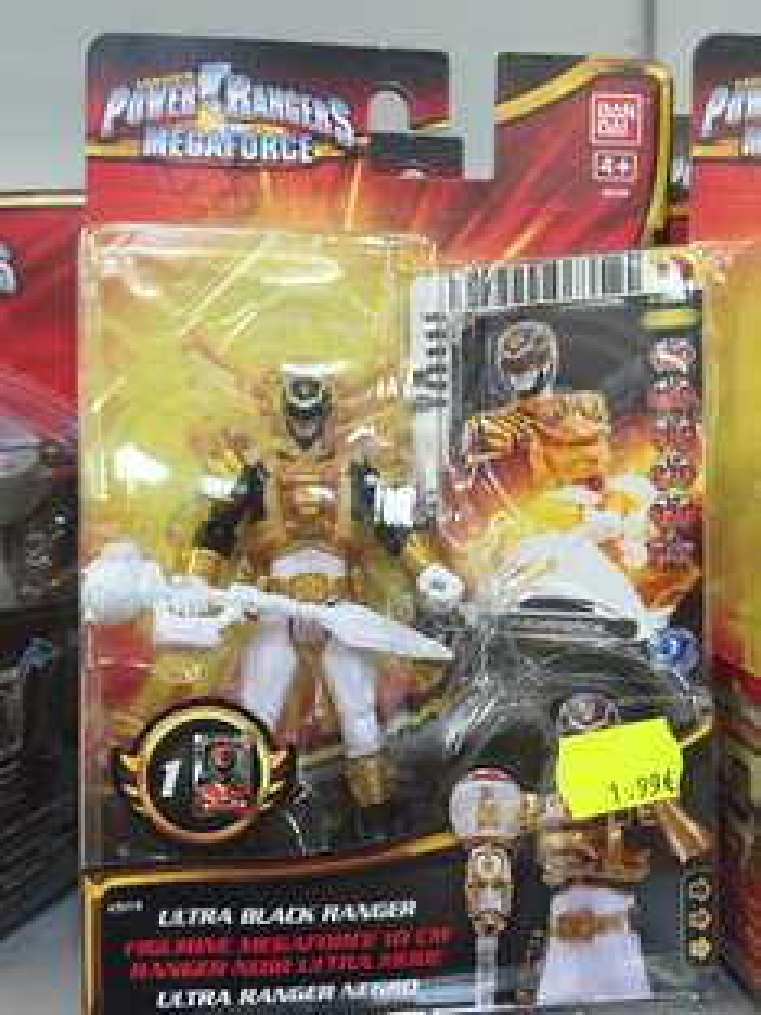 Figurine Power Rangers Megaforce - 10 cm + Carte d'action