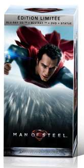 Man of Steel - Coffret Collector - DVD + Blu-ray + Blu-ray 3D + Copie Numérique + Statue collector