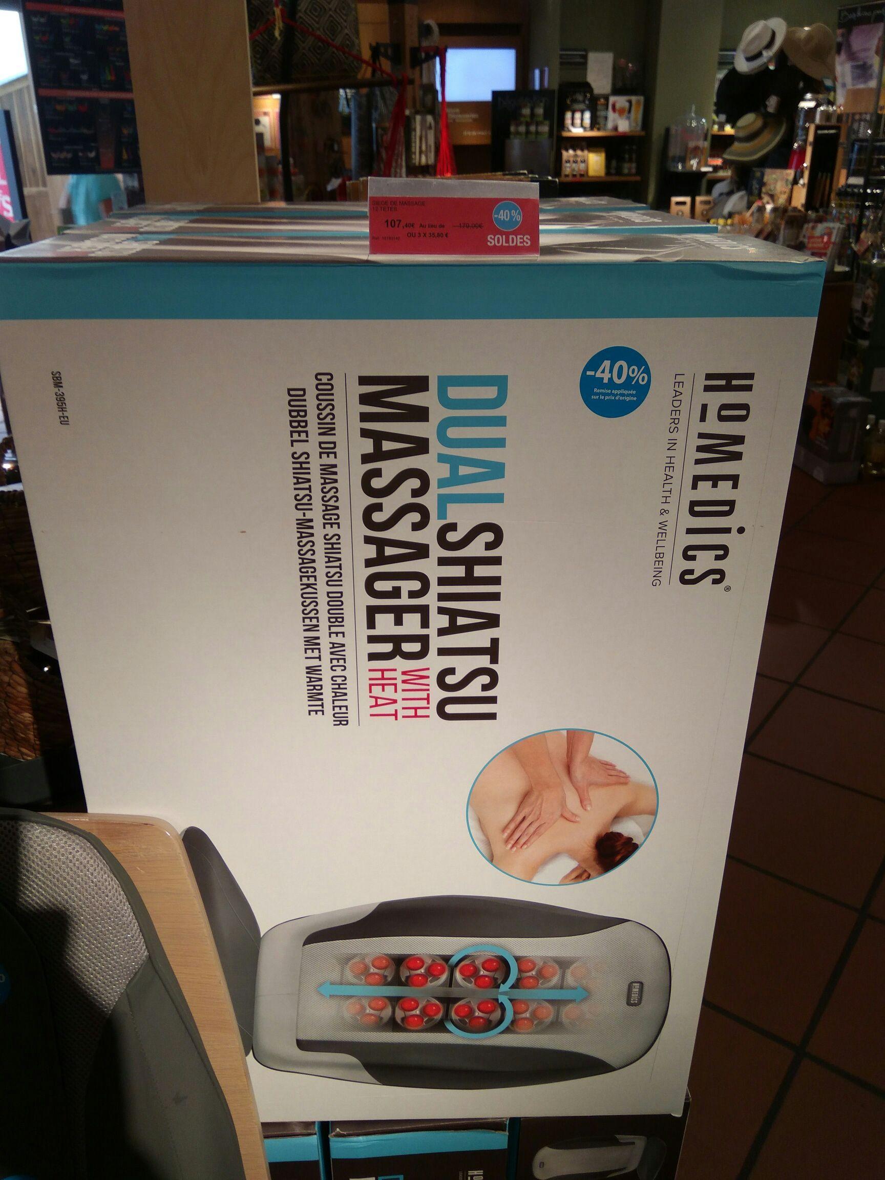 Siège massant Homedics Dual Shiatsu Massage 12 têtes