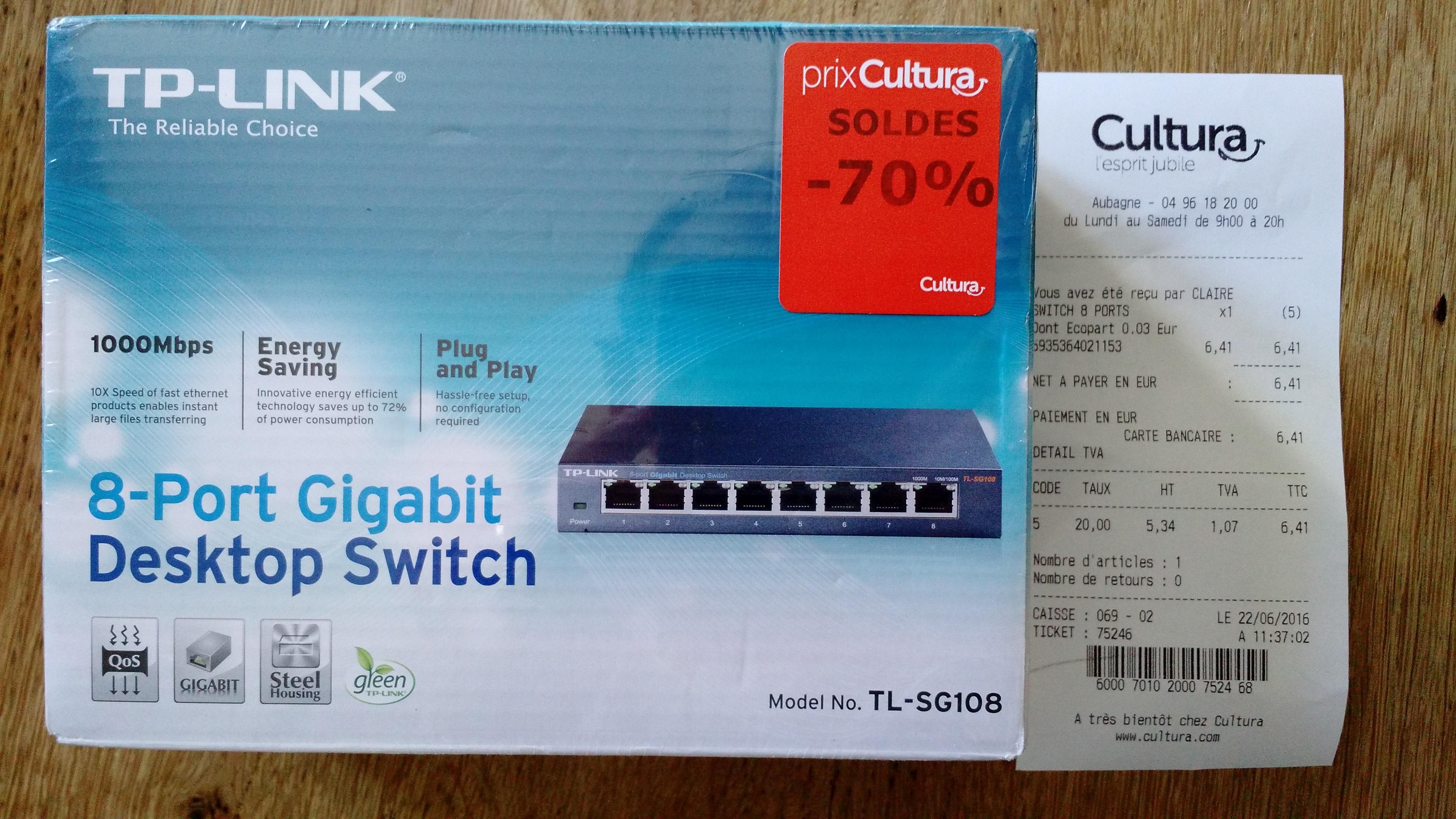 Switch Gigabit TP Link TL-SG108 8 Ports