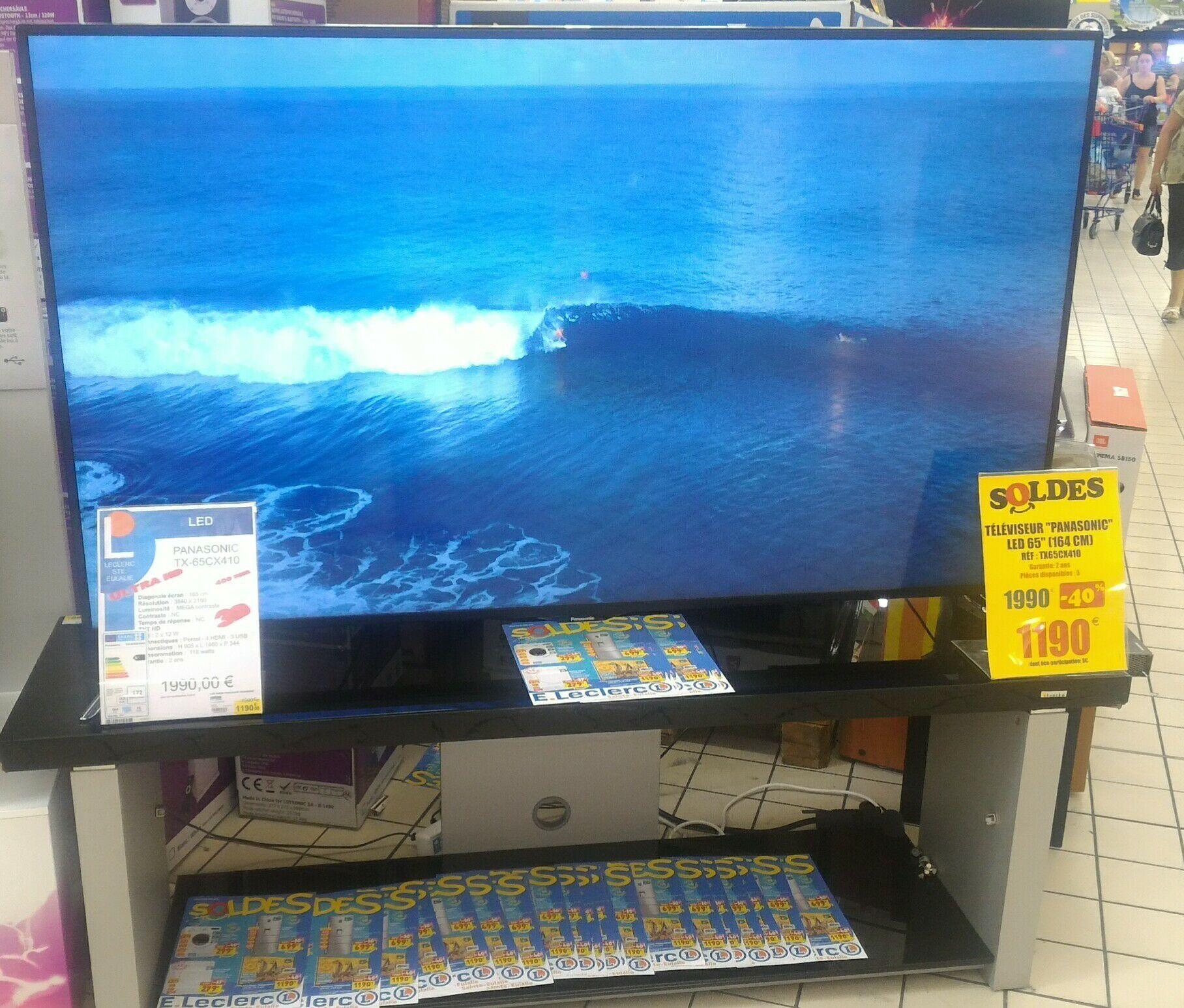"""TV 65"""" Panasonic TX-65CX410E - LED, 4K, 3D"""