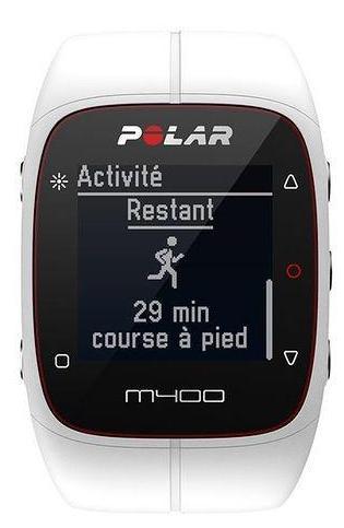 Montre GPS M400 blanche HRM