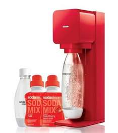 Sodastream Mega Pack Play Rouge + 2 Bouteilles 1L + 2 concentrés Cola