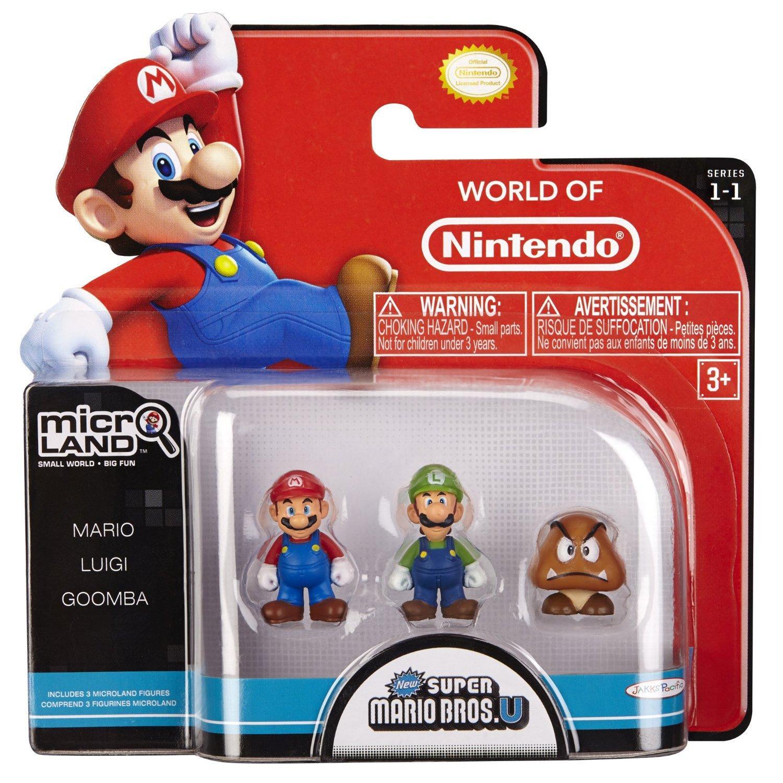 Pack de 3 Figurines Micro Land New Super Mario Bros U